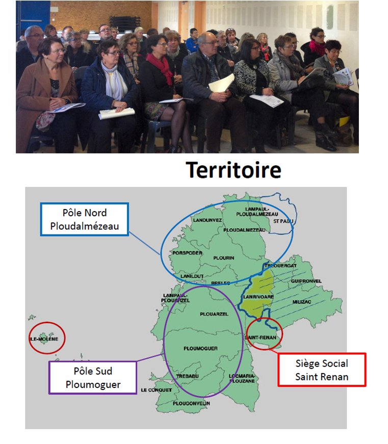L'ADMR de Ploudalmézeau et L'ADMR Saint Pabu-Lampaul Ploudalmézeau fusionnent avec l'ADMR du Pays d'Iroise
