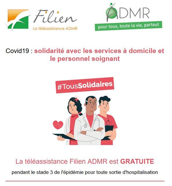 COVID 19 - LA Téléassistance FILIEN GRATUITE
