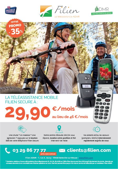 Téléassistance mobile Filien Secure: offre spéciale