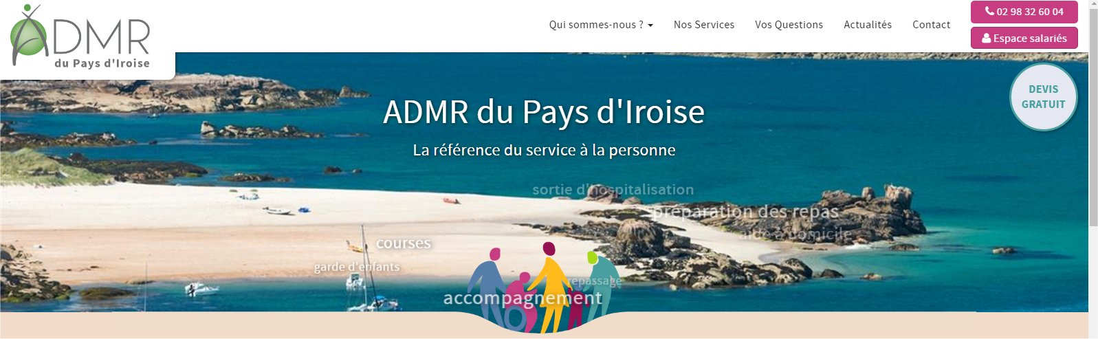 Le nouveau site de l'ADMR du pays d'Iroise est en ligne !